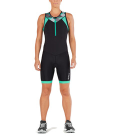 2XU Active Trisuit Women black/retro aqua green